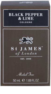 St. James Of London Black Pepper & Persian Lime Eau de Cologne para homens 1