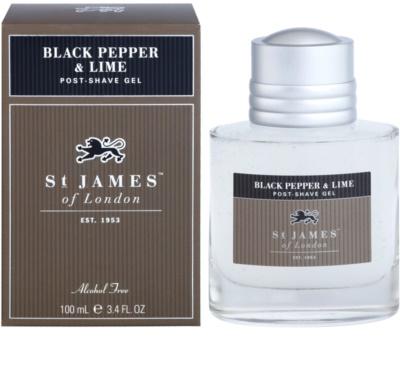 St. James Of London Black Pepper & Persian Lime gel After-Shave pentru barbati