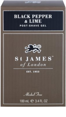 St. James Of London Black Pepper & Persian Lime gel after shave para hombre 1