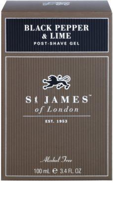 St. James Of London Black Pepper & Persian Lime After Shave Gel for Men 1