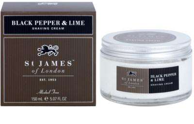 St. James Of London Black Pepper & Persian Lime borotválkozó krém férfiaknak