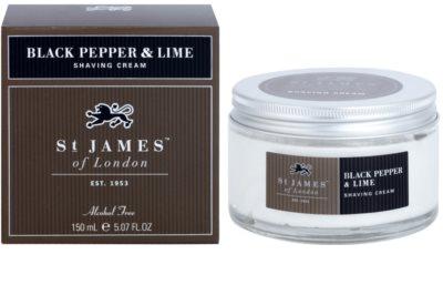 St. James Of London Black Pepper & Persian Lime creme de barbear para homens
