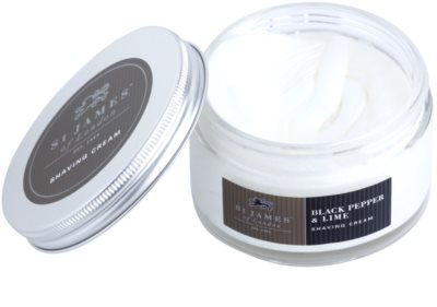 St. James Of London Black Pepper & Persian Lime crema pentru barbierit pentru barbati 3