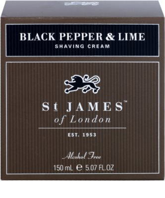 St. James Of London Black Pepper & Persian Lime krém na holení pro muže 1