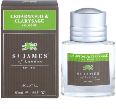 St. James Of London Cedarwood & Clarysage Eau de Cologne para homens