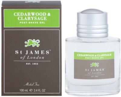 St. James Of London Cedarwood & Clarysage gel po holení pro muže