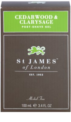 St. James Of London Cedarwood & Clarysage gel po holení pro muže 1