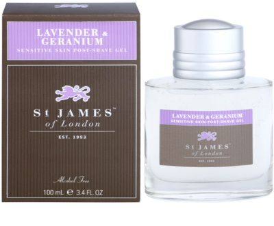 St. James Of London Lavender & Geranium gel po holení pro muže