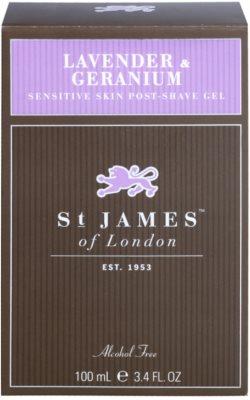St. James Of London Lavender & Geranium After-Shave Gel für Herren 1