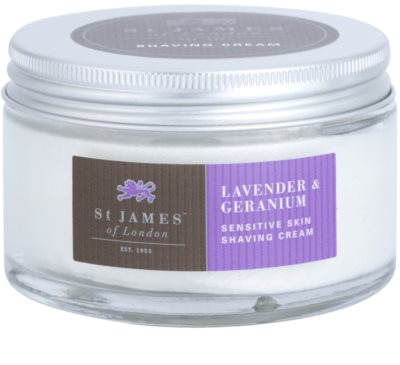 St. James Of London Lavender & Geranium Rasiercreme für Herren 2
