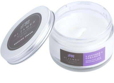 St. James Of London Lavender & Geranium Rasiercreme für Herren 3
