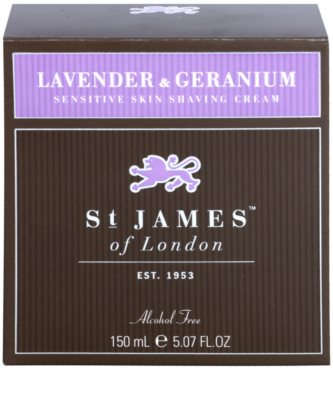 St. James Of London Lavender & Geranium Rasiercreme für Herren 1
