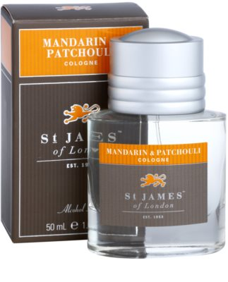 St. James Of London Mandarin & Patchouli Eau de Cologne para homens 2