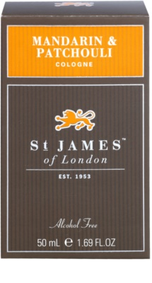 St. James Of London Mandarin & Patchouli Eau de Cologne para homens 1