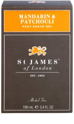 St. James Of London Mandarin & Patchouli gel za po britju za moške 1