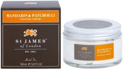 St. James Of London Mandarin & Patchouli Rasiercreme für Herren