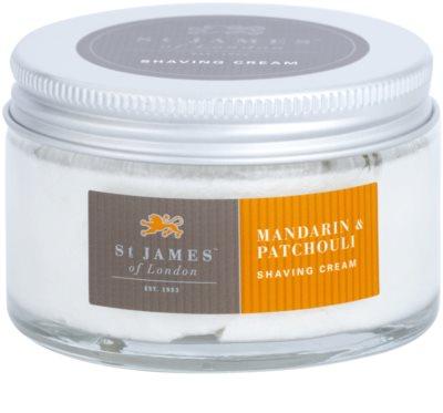 St. James Of London Mandarin & Patchouli krém na holení pro muže 2