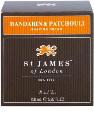 St. James Of London Mandarin & Patchouli krém na holení pro muže 1