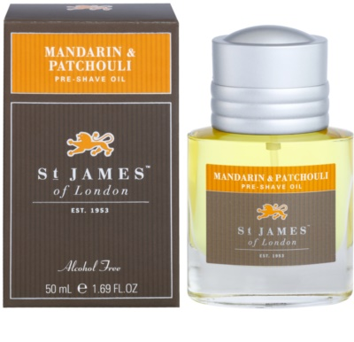 St. James Of London Mandarin & Patchouli aceite de afeitar para hombre