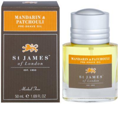 St. James Of London Mandarin & Patchouli óleo de barbear para homens