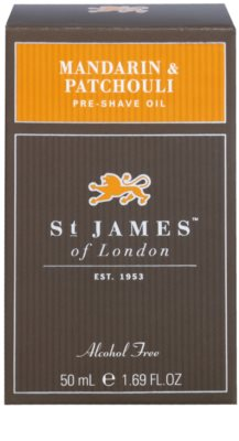 St. James Of London Mandarin & Patchouli Rasieröl für Herren 1