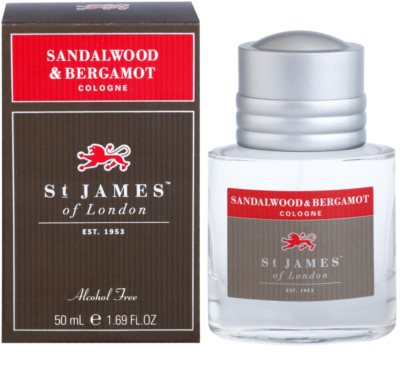St. James Of London Sandalwood & Bergamot Eau de Cologne para homens