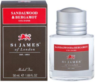 St. James Of London Sandalwood & Bergamot kolonjska voda za moške
