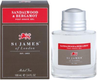 St. James Of London Sandalwood & Bergamot gel za po britju za moške