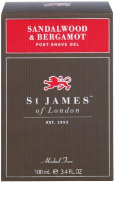 St. James Of London Sandalwood & Bergamot gel po holení pro muže 1