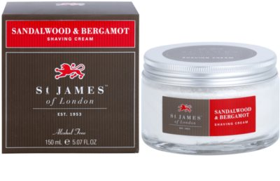 St. James Of London Sandalwood & Bergamot crema de afeitar para hombre