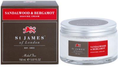 St. James Of London Sandalwood & Bergamot krém na holení pro muže