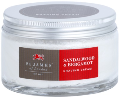 St. James Of London Sandalwood & Bergamot creme de barbear para homens 2