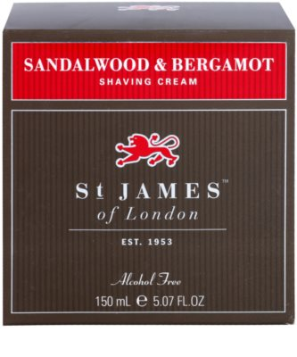 St. James Of London Sandalwood & Bergamot creme de barbear para homens 1