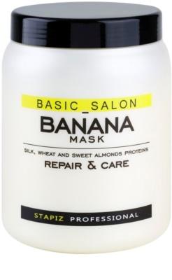 Stapiz Basic Salon Banana máscara renovadora para cabelo danificado
