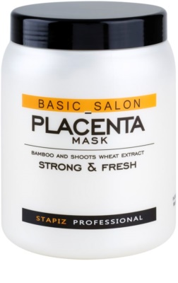 Stapiz Basic Salon Placenta mascarilla hidratante para cabello castigado y quebradizo