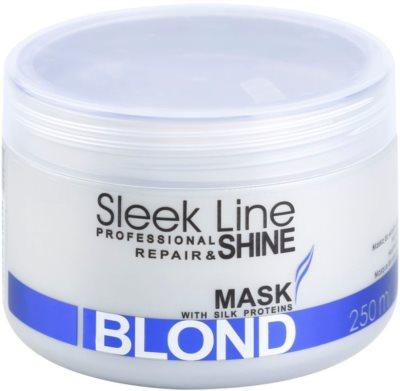 Stapiz Sleek Line Blond mascarilla para cabello rubio y canoso