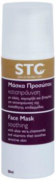 STC Face beruhigende Hautmaske für Gesicht und Hals