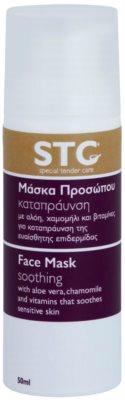 STC Face zklidňující pleťová maska na obličej a krk
