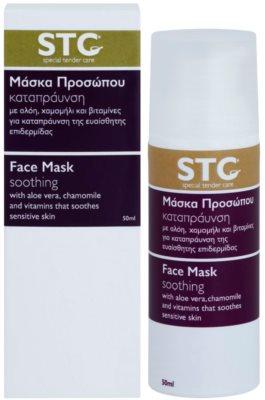 STC Face zklidňující pleťová maska na obličej a krk 1