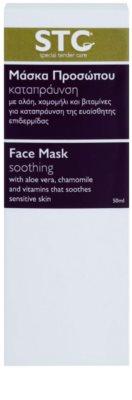 STC Face zklidňující pleťová maska na obličej a krk 2