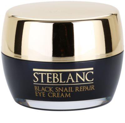 Steblanc Black Snail Repair crema para contorno de ojos con extracto de baba de caracol