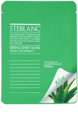 Steblanc Essence Sheet Mask Aloe máscara facial apaziguador