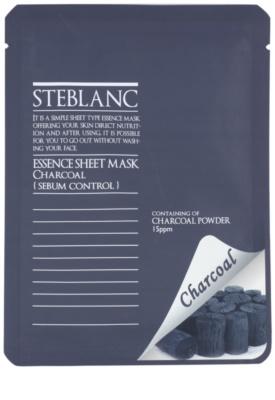 Steblanc Essence Sheet Mask Charcoal máscara de limpeza para pele oleosa