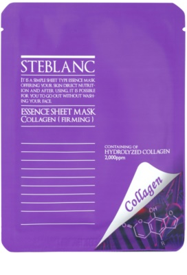 Steblanc Essence Sheet Mask Collagen Maske für straffe Haut