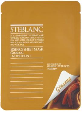 Steblanc Essence Sheet Mask Ginseng vyživující a obnovující pleťová maska