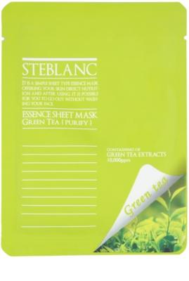 Steblanc Essence Sheet Mask Green Tea reinigende und beruhigende Maske für das Gesicht
