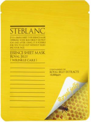 Steblanc Essence Sheet Mask Royal Jelly arcmaszk a ráncok ellen