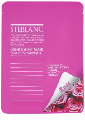 Steblanc Essence Sheet Mask Rose máscara facial revitalizante