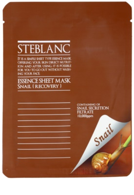 Steblanc Essence Sheet Mask Snail vyživující a obnovující pleťová maska s hydratačním účinkem