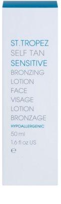 St.Tropez Self Tan Sensitive tonizáló arckrém enyhe napbarnított hatással 2